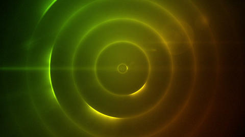 Moving circles of flashing yellow and green lights Footage