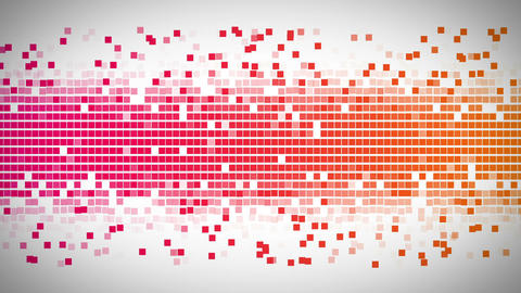 Pink and orange and pink squares moving fast Animation
