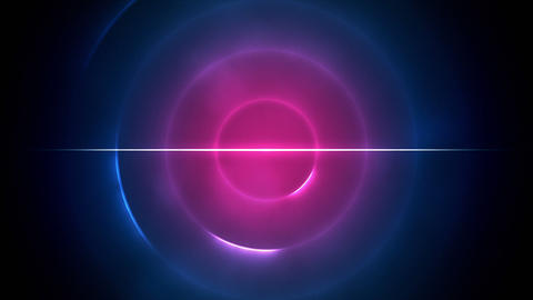 Blue and pink circles with a line in the middle Stock Video Footage