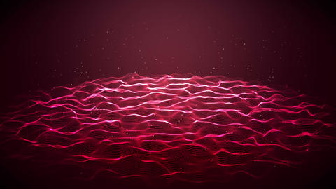 Red surface disturbed Animation