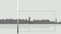 City Background With Frames stock footage