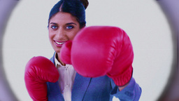 Videos of business people boxing Stock Video Footage