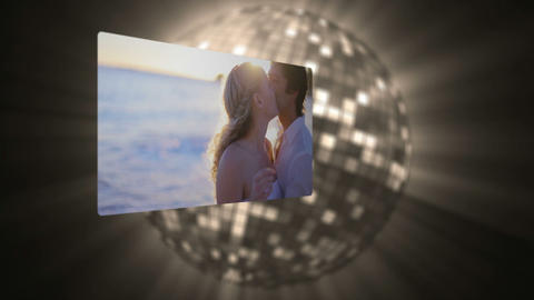 Videos of couple under the sunset Animation