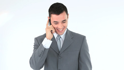 Businessman talking on a phone Footage