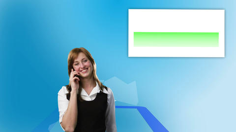 Video of women calling with speech bubbles Stock Video Footage