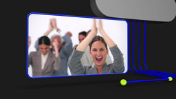 Video of happy business people Stock Video Footage