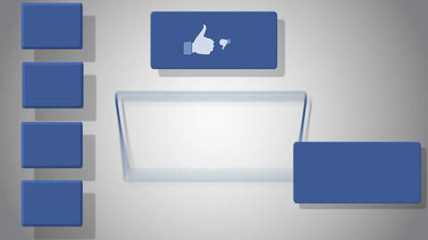 Video Of Empty Screen With Social Media Symbols stock footage