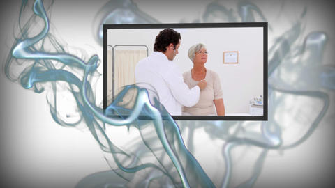 Animation of medical videos Stock Video Footage