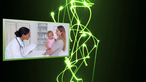 Medical videos with light beams Animation