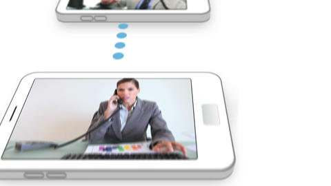 Video of business people calling on a smartphone Animation