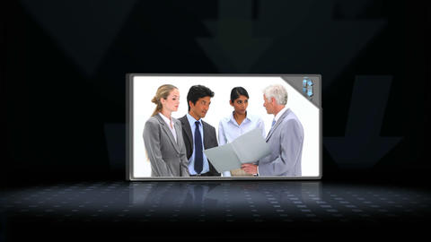 Video of business people speaking Animation