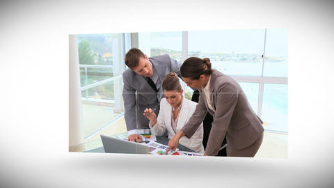 Videos of business people working at a desk Stock Video Footage