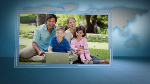 Video of family looking a laptop with Earth image courtesy of Nasa.org Animation