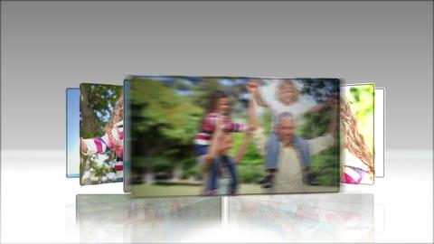 Video of joyful family in a park Animation