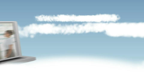 Videos of business people in the clouds Stock Video Footage