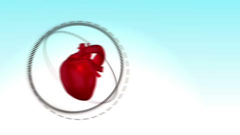 Videos of sportswoman next to a heart Animation