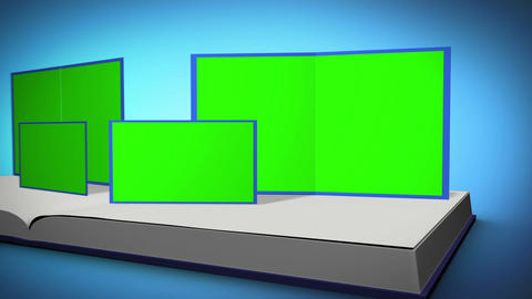Book with chroma key screens Animation