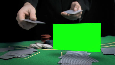 Man throwing cards on the table Animation
