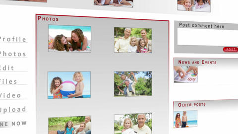 Family videos on a social network Animation