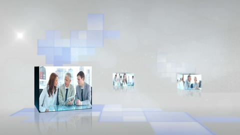 Business videos at a meeting Animation