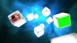 School videos on cubes Animation