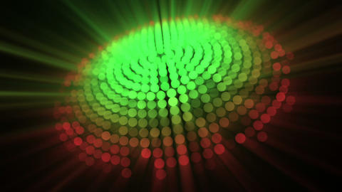 Circle of light and red and green dots Stock Video Footage