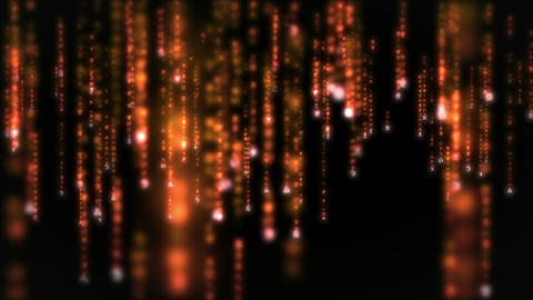 Lines of orange blurred letters falling Footage