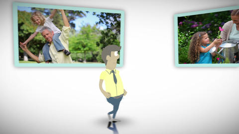 Videos of family outdoors Animation