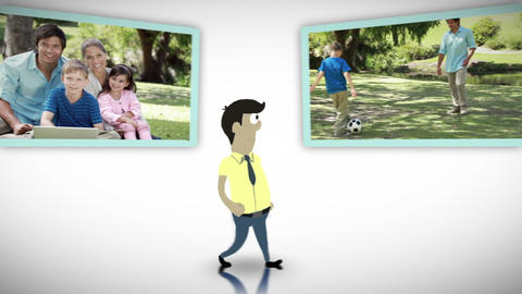 Family in a park Stock Video Footage