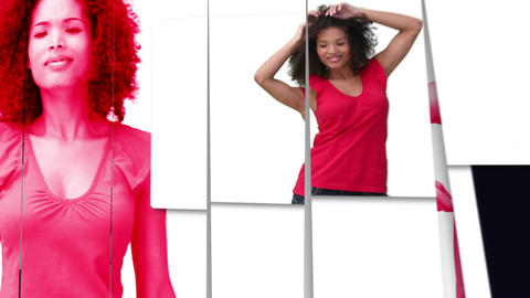 Black woman dancing Stock Video Footage