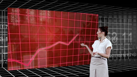 Woman presenting a chart Animation