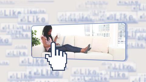 People using social media Animation