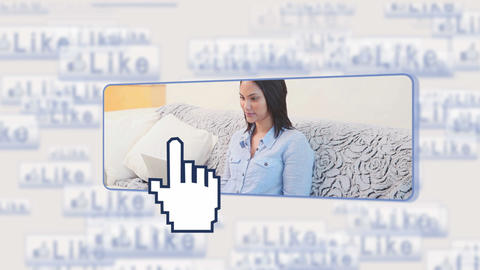 Woman using social media Animation