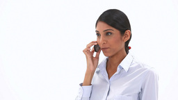 Businesswoman calling Footage
