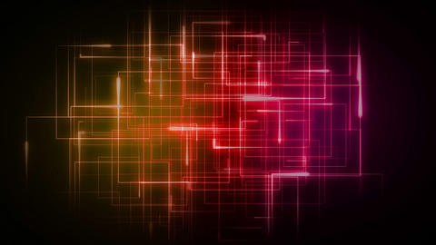 Orange and pink lines forming geometrical shapes Animation