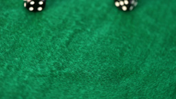 Dices thrown on a gambling table Footage