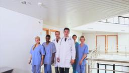 Doctors with nurses walking Footage