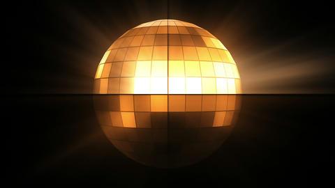 Orange disco ball Animation