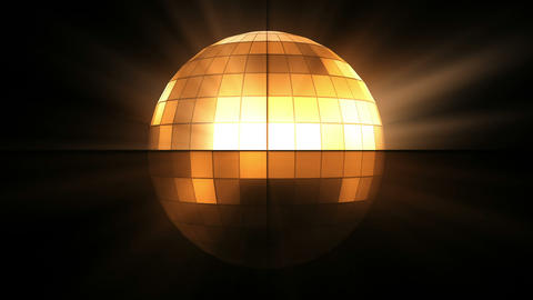Orange disco ball Stock Video Footage