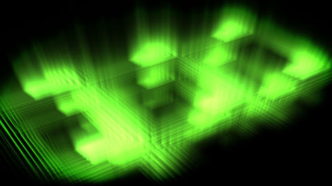Green glow forming a square Animation