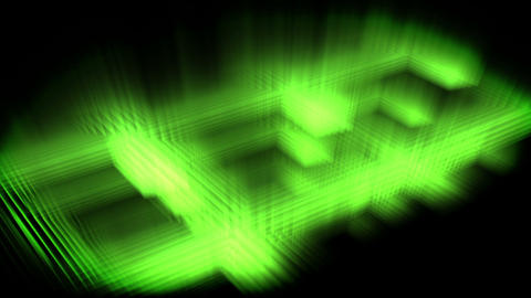 Green glow forming a square Stock Video Footage
