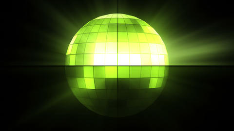 Green disco ball Animation