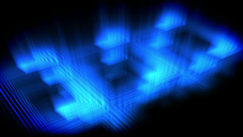 Blue glow forming a square Animation