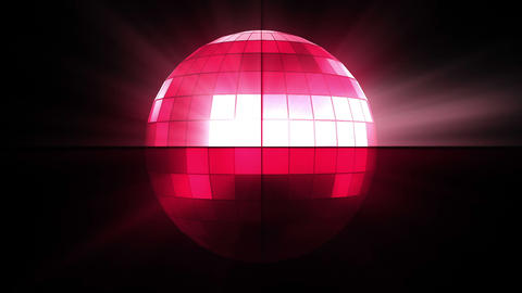 Pink disco ball Footage
