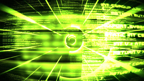 Green text and circles unfold Stock Video Footage