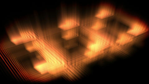 Orange glow forming a square Stock Video Footage