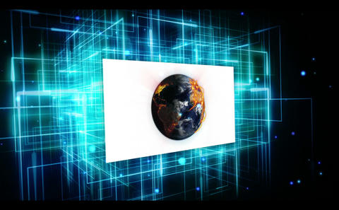 Animated videos of earth and international community on digital background Animation