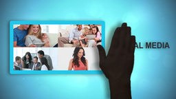 Black animated hands moving social media videos an Animation