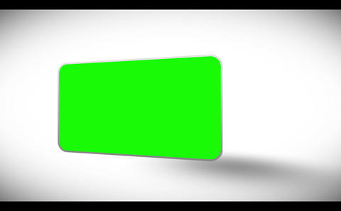 3d chroma keys appearing with shadow Stock Video Footage