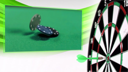 Slow motion darts animation with poker and gamblin Animation